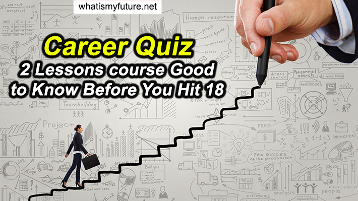 Career Quiz, 2 Lessons course Good to Know Before You Hit 18